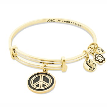 Lauren G Adams LOLO Peace Bangle