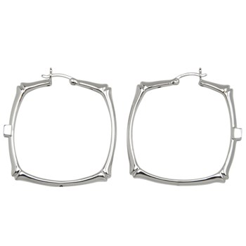 346651-Elle Thin Rectangle Hoop Earrings ONLY 1 PAIR LEFT!