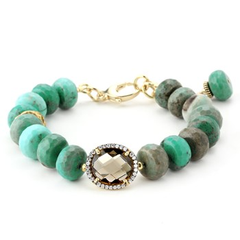 Lollies Green Jasper Bracelet - 344463