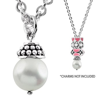 Storywheels Pearl Lariat Charm Necklace-338431