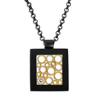 Belle Brooke 18k Gold Square Diamond Necklace