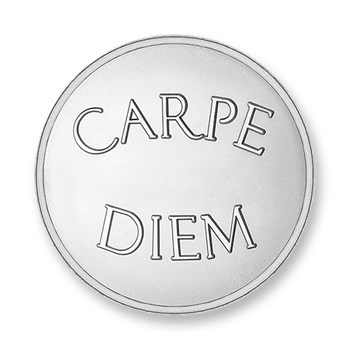 Mi Moneda Carpe Diem Silver Small Disc ONLY 1 LEFT!