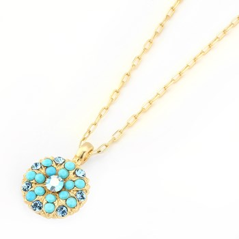 348786-Mariana Sparkling Blue Angel Necklace