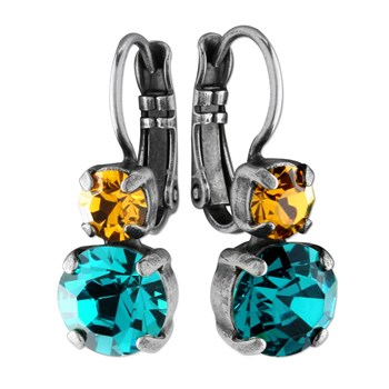 655-2532-Mariana Blue & Orange Earrings