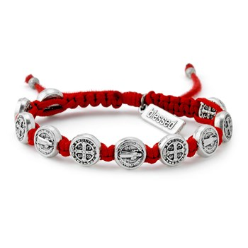 My Saint My Hero Red & Silver Blessing Bracelet