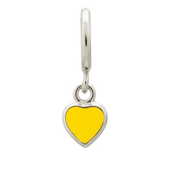 Endless Sun Yellow Heart Drop Charm 346901 - ONLY 1 LEFT!