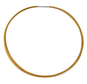 339993-Jorge Revilla Gold Thread Necklace