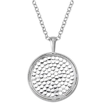 Anna Beck Silver Medallion Necklace
