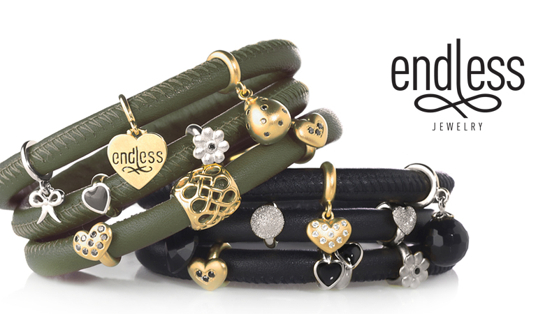 Endless Leather Wrap Bracelets and Charms