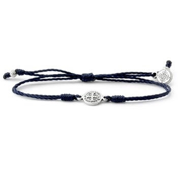 My Saint My Hero Navy & Silver Breathe Bracelet