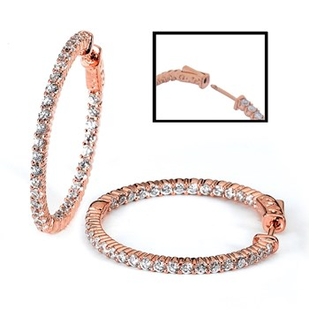 347366-14K Rose Gold Hoop Earrings