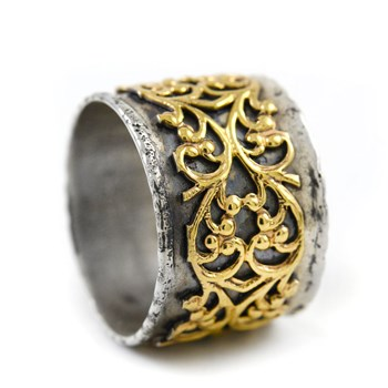 Ornate Silver & Gold Ring