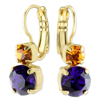 655-02671-Mariana Orange & Purple Earrings