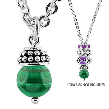 Storywheels Malachite Lariat Necklace - 338433