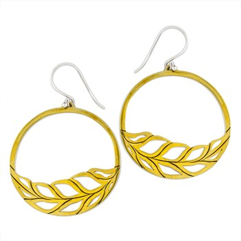 Roulette 18 Leaf Hoop Earrings 347706