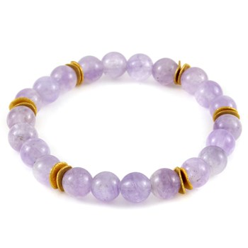 Stone Salutations Light Amethyst & Gold Bracelet