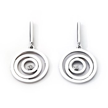 339954-Jorge Revilla Sinfin Sterling Silver Earrings with Diamonds