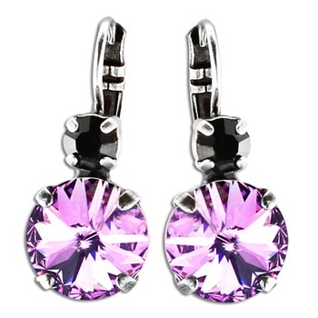 348848-Mariana Black and Purple Earrings