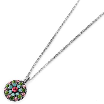 348823-Mariana Pink and Green Angel Necklace