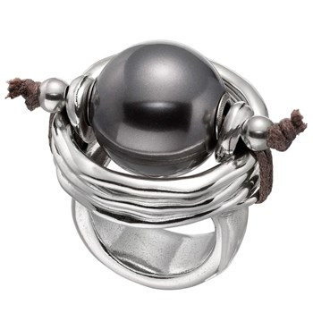 Uno de 50 De Perlas (A Pearl of Wisdom) Black Ring