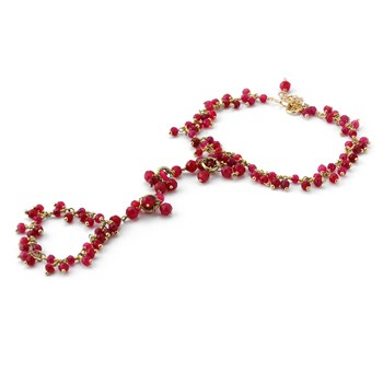 "235-604-Elisa Ilana ""Highborn"" Ruby Ring Bracelet"