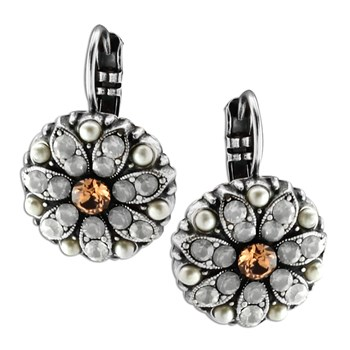 348843-Mariana Sparkling Orange Earrings