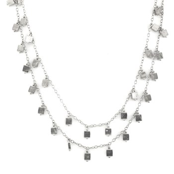 Roulette 18 Silver Necklace 347704