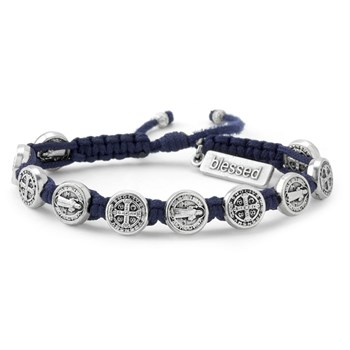 My Saint My Hero Navy Blue & Silver Blessing Bracelet