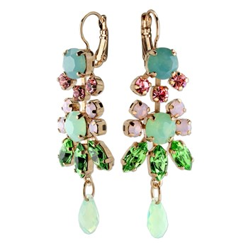 655-02897-Mariana Green & Pink Classy Earrings