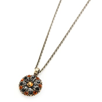 348795-Mariana Black and Orange Angel Necklace