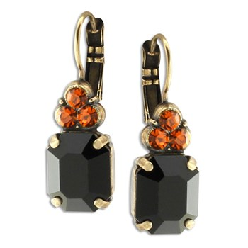 348860-Mariana Black and Orange Earrings