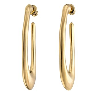 UNO de 50 Do You Orbit? Gold Earrings