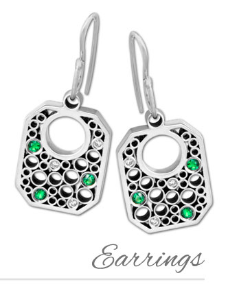 Designer Beads and Charms Earring Collection