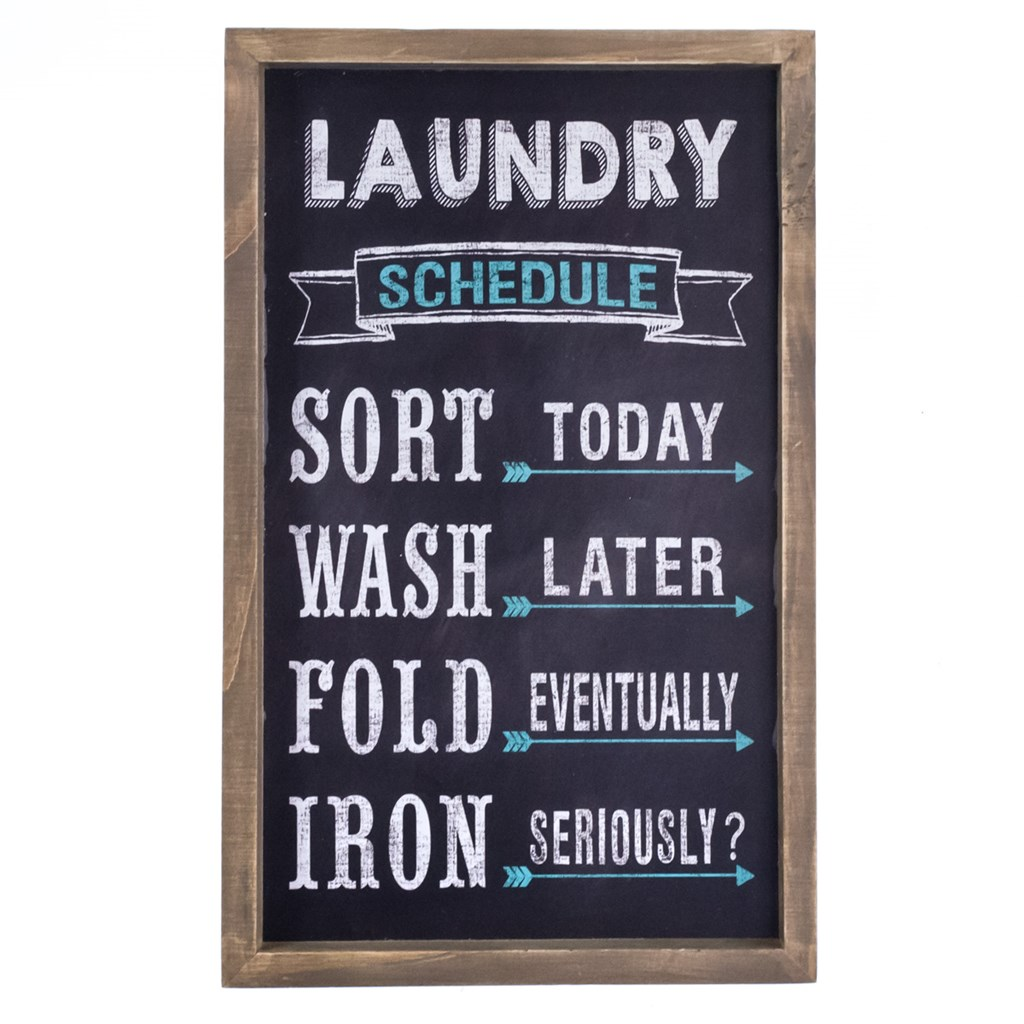 Laundry Decor Laundry Schedule Wall Decor Collections Laundry Room Cracker