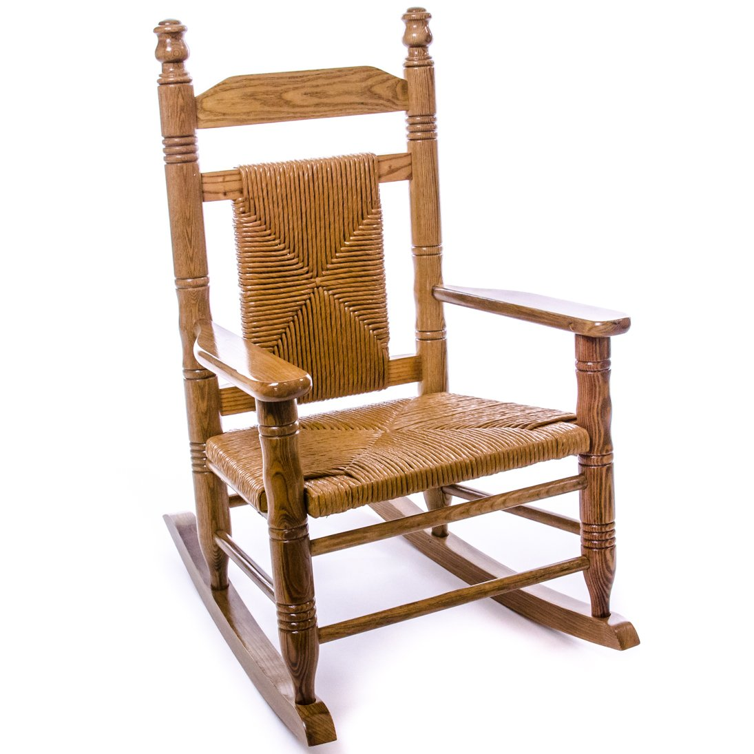 Woven Child Seat Rocking Chair Hardwood Home Furniture Indoor Chairs Er Barrel Old Country