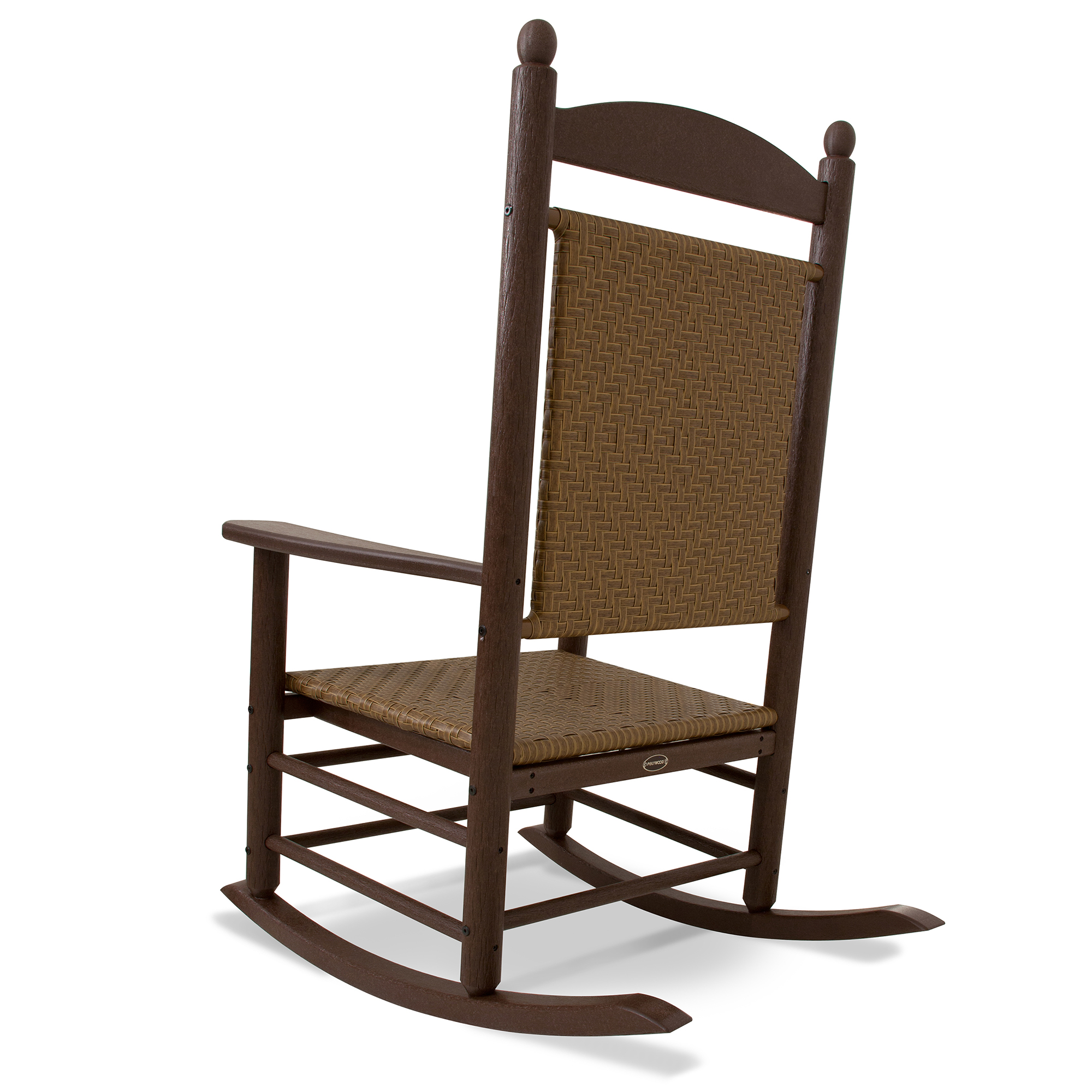 POLYWOOD reg All Weather Jefferson Woven Rocker