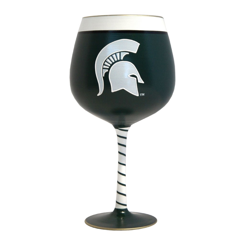 artisan wine glass michigan state college fans michigan state home decor cracker barrel old country store cracker barrel old country store