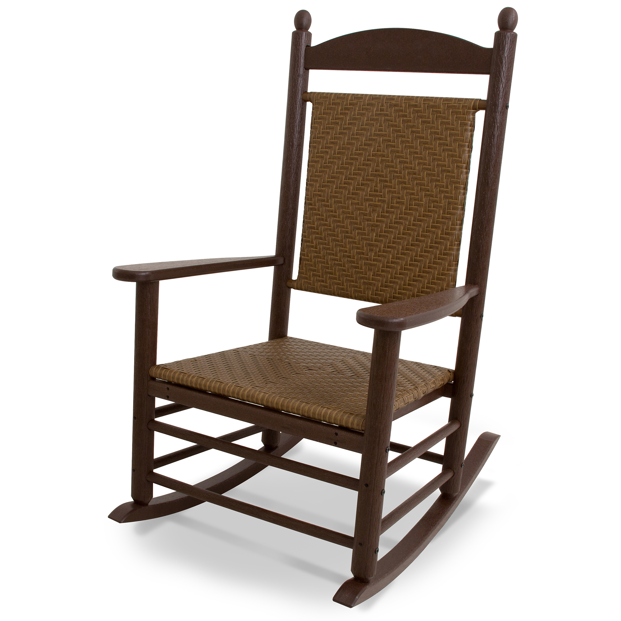 Outdoor furniture all chairs rocking chairs jefferson outdoor rocking - Polywood Reg All Weather Jefferson Woven Rocker Outdoor Furniture Rocking Chairs Cracker Barrel Old Country Store