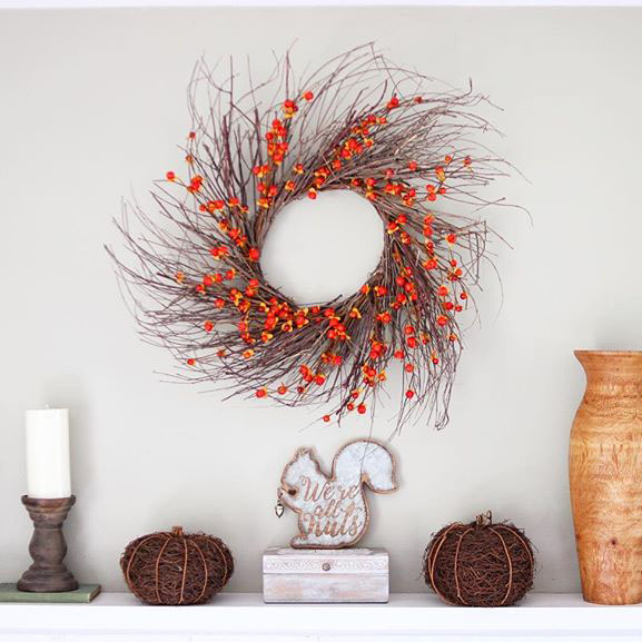 24 Faux Bittersweet Wreath