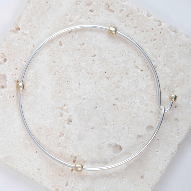 2-Toned Silver Charm Bracelet