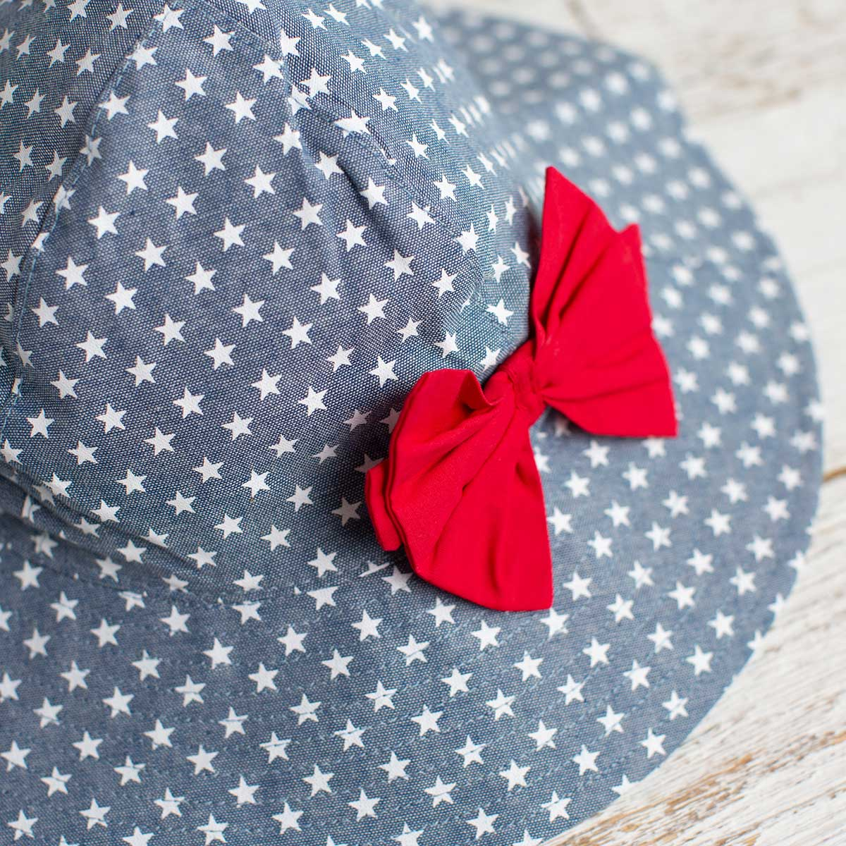 Kids Star Print Sunhat with Bow