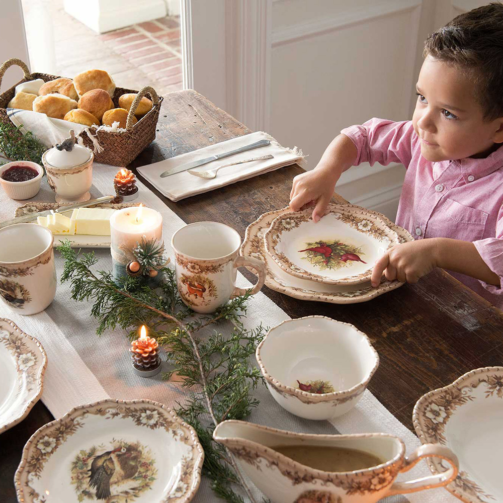 Woodland Christmas Dinnerware