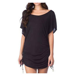 Lucky Women's Solid Attitude Side Shirred Tunic