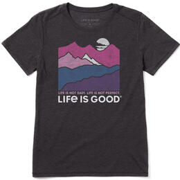 Life Is Good Women's Life Isn't Easy Mountains Cool T-Shirt