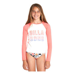 Billabong Girl's Zigginz Long Sleeve Rashguard Swim Set