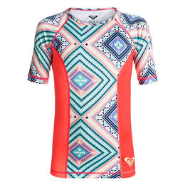 Roxy Girl's Four Shore Short Sleeve Rashguard