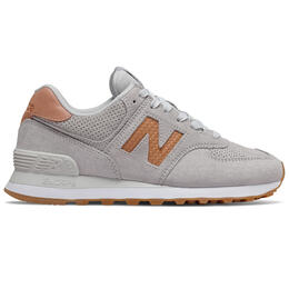 New Balance Women's 574 Woven Logo Casual Shoes