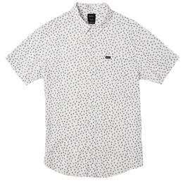 RVCA Men's Ficus Floral Short Sleeve Button Up Shirt