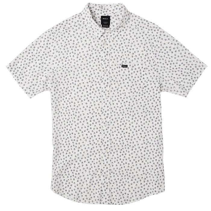 Rvca Men's Ficus Floral Short Sleeve Button