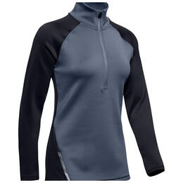 Under Armour Women's ColdGear® Armour Half Zip Color Block Base Layer